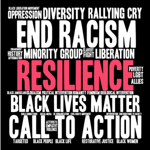 Sign saying End Racism